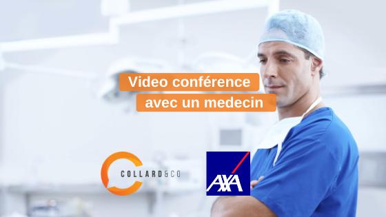 Axa : Vidéoconférence avec un médecin dans la lutte contre le coronavirus